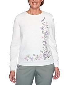 Loire Valley Embroidered Chenille Sweater