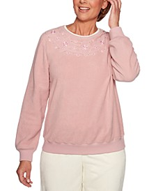 Petite Classics Embroidered Embellished Top