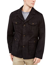 Men's Faux-Suede Four-Pocket Jacket, Created For Macy's