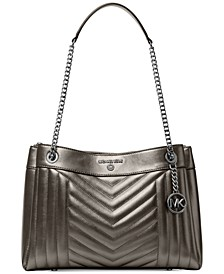 Susan Metallic Medium Shoulder Bag