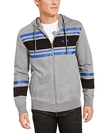 Men's Stripe Full-Zip Hoodie, Created For Macy's