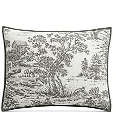 CLOSEOUT! Fox Toile Quilted Standard Sham, Created for Macy's