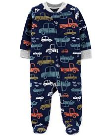 Baby Boys Fleece Sleep N Play Footed Coveralls