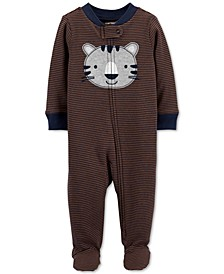 Baby Boys Cotton Tiger Footed Coverall