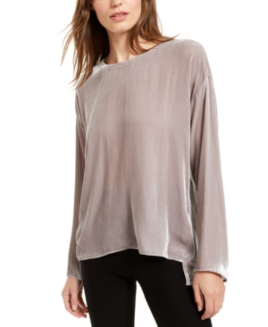 Eileen Fisher Tops BOAT-NECK HIGH-LOW TOP