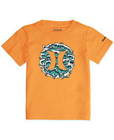 Hurley Big Boys Logo-Print Cotton T-Shirt