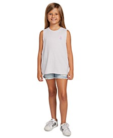 Big Girls Logo-Print Sleeveless T-Shirt
