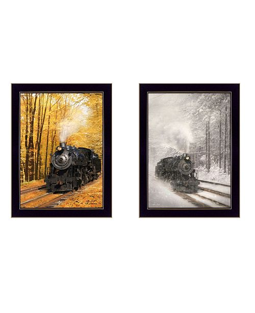 "Trendy Decor 4U Trendy Decor 4U Vintage-Like Locomotives Collection By Lori Deiter, Printed Wall Art, Ready to hang, Black Frame, 14"" x 20"""