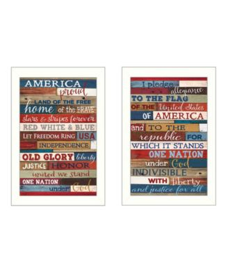 """America Proud II Collection By Marla Rae, Printed Wall Art, Ready to hang, White Frame, 10"""" x 14"""""""