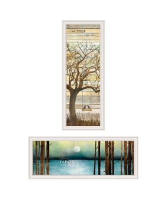 """I met You/Living your Dreams 2-Piece Vignette by Marla Rae, White Frame, 15"""" x 39"""""""