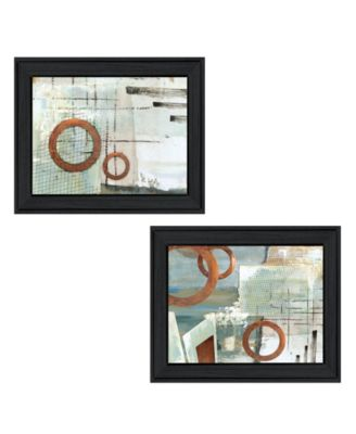 """Balance this I II 2-Piece Vignette by Cloverfield Co, Black Frame, 19"""" x 15"""""""