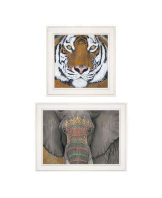 """Wildlife II 2-Piece Vignette by Britt Hallowell, White Frame, 19"""" x 15"""""""