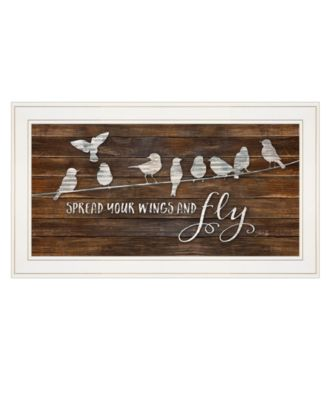 """Spread Your Wings and Fly by Marla Rae, Ready to hang Framed print, White Frame, 27"""" x 15"""""""