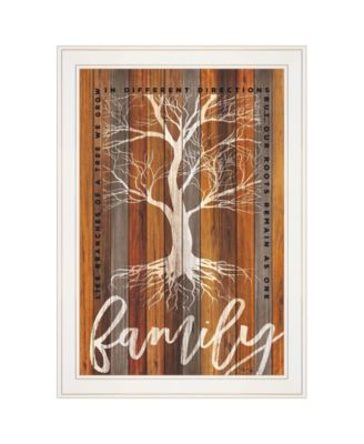"""Family Roots by Marla Rae, Ready to hang Framed print, White Frame, 15"""" x 21"""""""