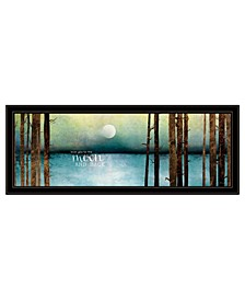 """Trendy Decor 4U Love You to the Moon and Back by Marla Rae, Ready to hang Framed Print, Black Frame, 39"""" x 15"""""""
