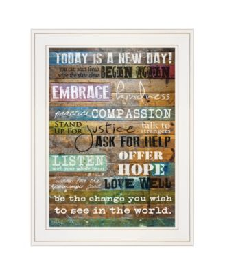 """Today Is by Marla Rae, Ready to hang Framed print, White Frame, 15"""" x 19"""""""