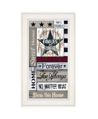 """Families are Forever by Linda Spivey, Ready to hang Framed print, White Frame, 12"""" x 21"""""""