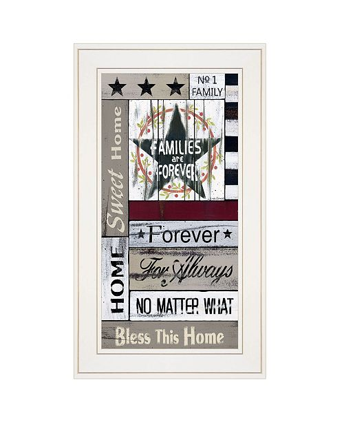 """Trendy Decor 4U Trendy Decor 4U Families are Forever by Linda Spivey, Ready to hang Framed print, White Frame, 12"""" x 21"""""""