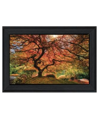 First Colors of Fall I by Moises Levy, Ready to hang Framed Print, White Frame, 21