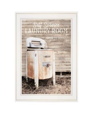 """Laundry Room by Lori Deiter, Ready to hang Framed Print, White Frame, 15"""" x 21"""""""