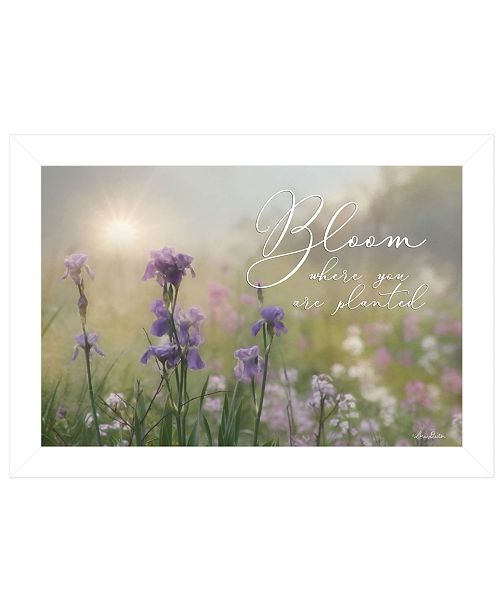 "Trendy Decor 4U Trendy Decor 4U Bloom Where You are Planted by Lori Deiter, Ready to hang Framed Print, White Frame, 21"" x 15"""