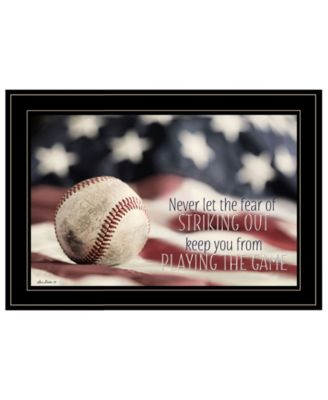 Baseball - Playing the Game by Lori Deiter, Ready to hang Framed Print, Black Frame, 21