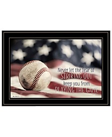 Trendy Decor 4U Baseball - Playing the Game by Lori Deiter, Ready to hang Framed Print Collection