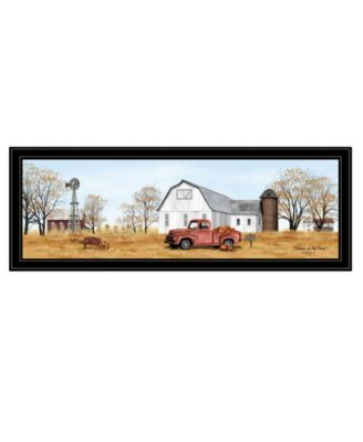 """Autumn on Farm by Billy Jacobs, Ready to hang Framed Print, Black Frame, 39"""" x 15"""""""