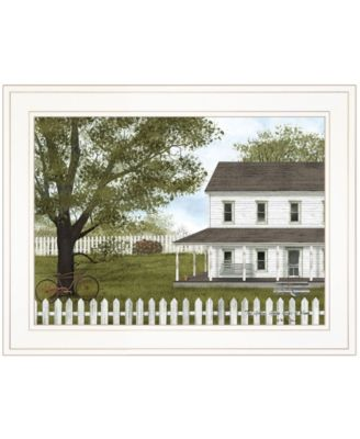 """GREEN, GREEN GRASS OF HOME by Billy Jacobs, Ready to hang Framed Print, White Frame, 19"""" x 15"""""""