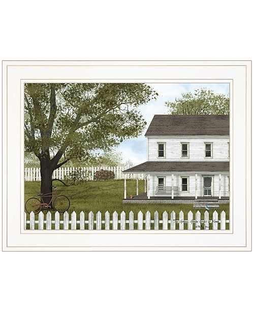 "Trendy Decor 4U Trendy Decor 4U GREEN, GREEN GRASS OF HOME by Billy Jacobs, Ready to hang Framed Print, White Frame, 19"" x 15"""