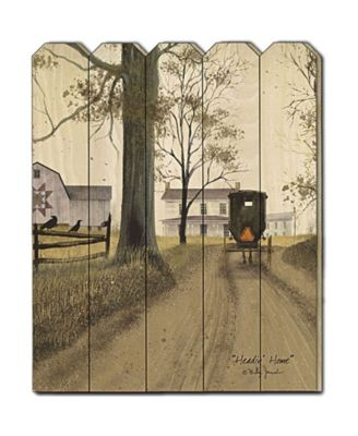 """Headin Home by Billy Jacobs, Printed Wall Art on a Wood Picket Fence, 16"""" x 20"""""""