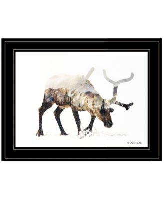 """Arctic Reindeer by andreas Lie, Ready to hang Framed Print, Black Frame, 19"""" x 15"""""""
