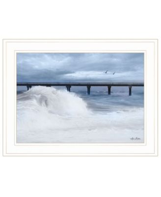 """Blue Waves by Lori Deiter, Ready to hang Framed Print, White Frame, 21"""" x 15"""""""