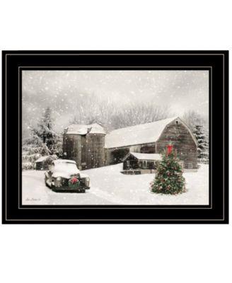 Farmhouse Christmas by Lori Deiter, Ready to hang Framed Print, White Frame, 19