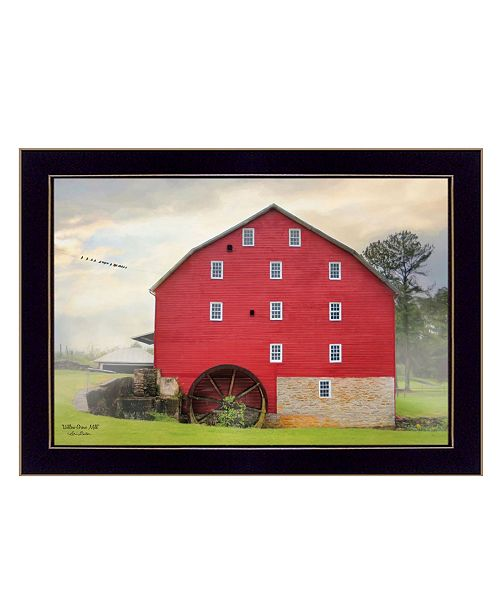 "Trendy Decor 4U Trendy Decor 4U Willow Grove Mill By Lori Deiter, Printed Wall Art, Ready to hang, Black Frame, 20"" x 14"""