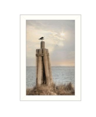 "Birds Eye View By Lori Deiter, Printed Wall Art, Ready to hang, White Frame, 14"" x 20"""