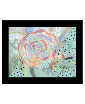 Bloom for Yourself by Kait Roberts, Ready to hang Framed Print, Black Frame, 19