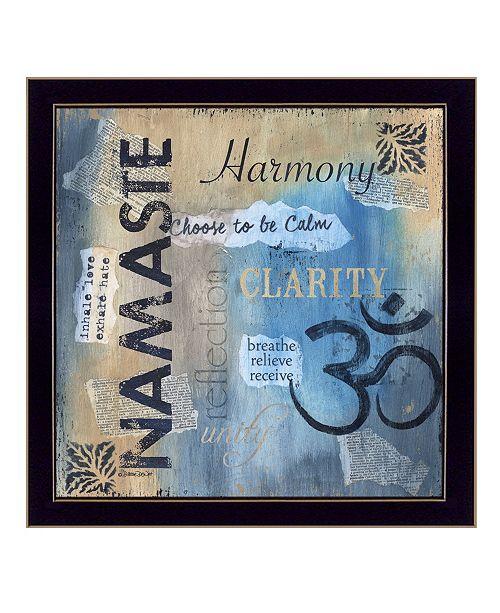 "Trendy Decor 4U Trendy Decor 4U Yoga Series - Namaste By Debbie DeWitt, Printed Wall Art, Ready to hang, Black Frame, 14"" x 14"""