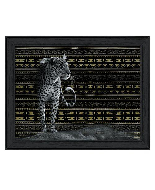 "Trendy Decor 4U Trendy Decor 4U Patterned Leopard By Dee Dee, Printed Wall Art, Ready to hang, Black Frame, 18"" x 14"""