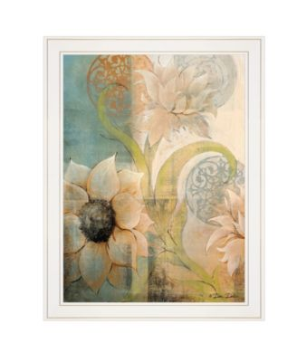 """Meandering Flowers I by Dee Dee, Ready to hang Framed Print, White Frame, 21"""" x 27"""""""