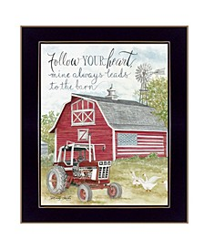 """Trendy Decor 4U Follow Your Heart by Cindy Jacobs, Ready to hang Framed Print, Black Frame, 14"""" x 18"""""""