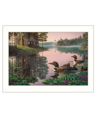 """Northern Tranquility by Kim Norlien, Ready to hang Framed Print, White Frame, 20"""" x 14"""""""