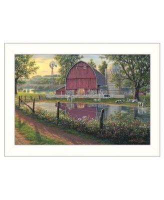 "Barnyard Memories by Kim Norlien, Ready to hang Framed Print, White Frame, 20"" x 14"""