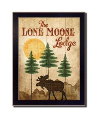 "Lone Moose By Mollie B., Printed Wall Art, Ready to hang, Black Frame, 14"" x 18"""