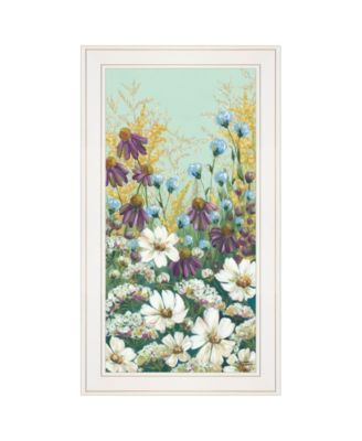 """Floral Field Day by Michele Norman, Ready to hang Framed Print, White Frame, 15"""" x 27"""""""