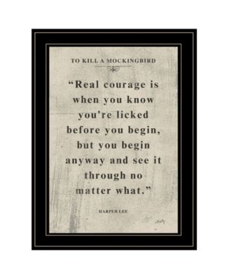 Book Quote VI by Misty Michelle, Ready to hang Framed Print, Black Frame, 15