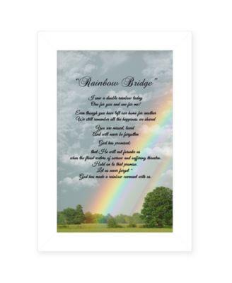 "Rainbow Bridge by Trendy Décor 4U, Ready to hang Framed Print, White Frame, 11"" x 15"""