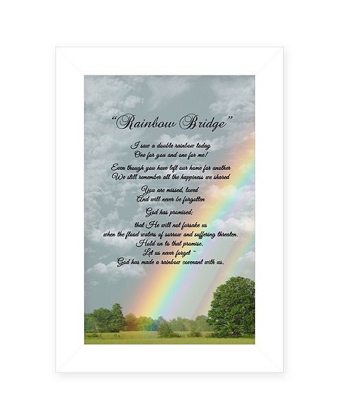 "Trendy Decor 4U Trendy Decor 4U Rainbow Bridge by Ready to hang Framed Print, White Frame, 11"" x 15"""