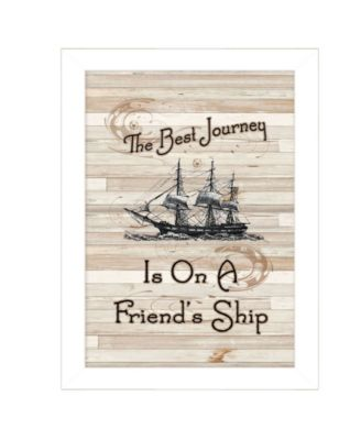 """Friendship Journey by Millwork Engineering, Ready to hang Framed Print, White Frame, 10"""" x 14"""""""