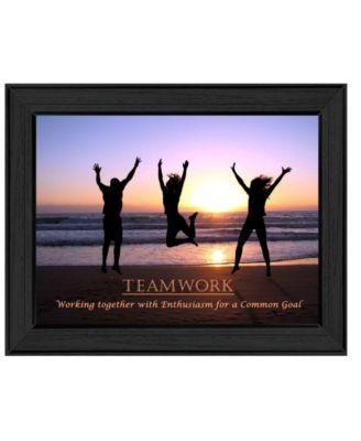 "Teamwork By Trendy Decor4U, Printed Wall Art, Ready to hang, Black Frame, 19"" x 15"""